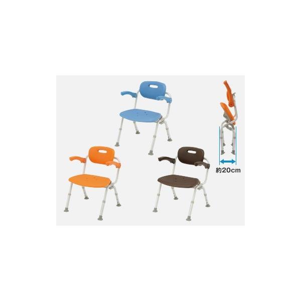 風呂椅子 バスチェア シャワーベンチ パナソニックシャワーチェア ユクリア ワイドSPワンタッチおりたたみN PN-L41522 背もたれ・ひじかけタイプ|okitatami