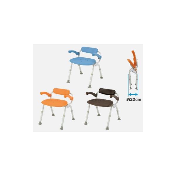 風呂椅子 バスチェア シャワーベンチ パナソニックシャワーチェア ユクリア ミドルSP腰当付おりたたみN PN-L42021 背もたれ・ひじかけタイプ|okitatami