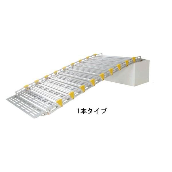 巻き取り式スロープ・渡し板 スロープビルド1本タイプ 153cm (組み立て式)  屋外用段差解消・適応段差高さ:約10〜15cm|okitatami