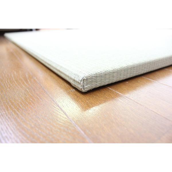 畳 琉球畳 縁なし 置き畳 座90 4枚セット ユニット畳 サイズ:900×900mm 日本製 当店オリジナル okitatami 02