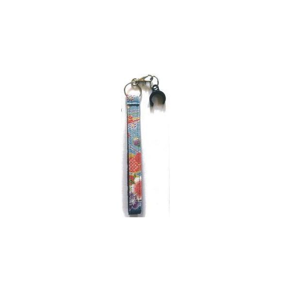 杖用ちりめんストラップ02 水色|okitatami