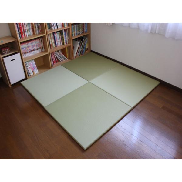 畳 断熱 防音 B級 へりなし 置き畳 和紙座80+ 銀白色綾織り 自社生産職人手作り ユニット畳|okitatami|04