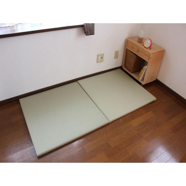 畳 断熱 防音 B級 へりなし 置き畳 和紙座80+ 銀白色目積 自社生産職人手作り ユニット畳|okitatami|05