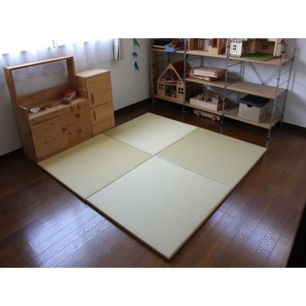 畳 断熱 防音 B級 へりなし 置き畳 和紙座80+ 金銀色綾織り 自社生産職人手作り|okitatami|02
