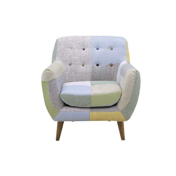 ソファ ヨランダ 1Pソファ 1人掛けソファ 1人用  パッチワーク 布張り おしゃれ 北欧 椅子 チェア okkagufa-mu 04