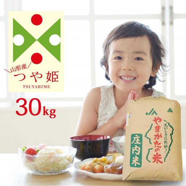 米 30kg (精米後約27kg) つや姫 山形県産 特別栽培米 (無洗米/白米/玄米) 令和2年産 送料無料 (一部地域を除く) 精米 白米 お米