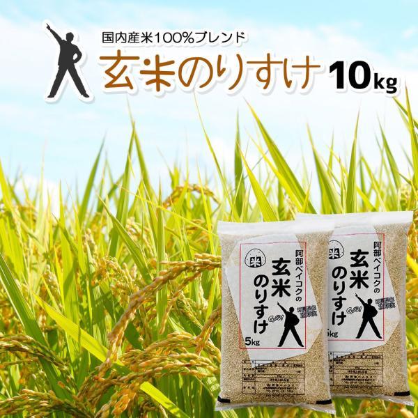 玄米 10kg 送料無 のりすけ 5kg×2袋 送料無料 (一部地域を除く) 国内産 ブレンド米 お米