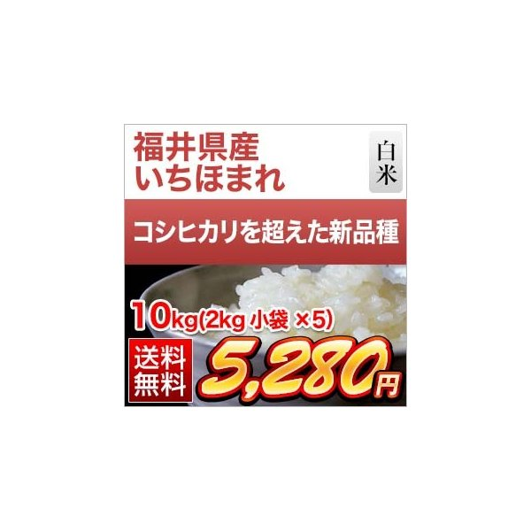 新米 令和3年(2021年)  福井県産 いちほまれ<4年連続 特A評価> 白米 10kg (2kg×5袋)【送料無料】【米袋は真空包装】【即日出荷】