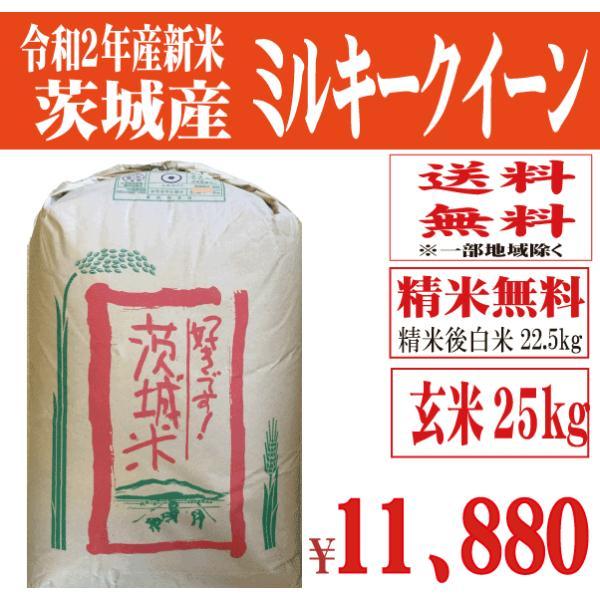 29年産新米 玄米30kg 送料無料 茨城ミルキークイーン|okomenokanekofujima