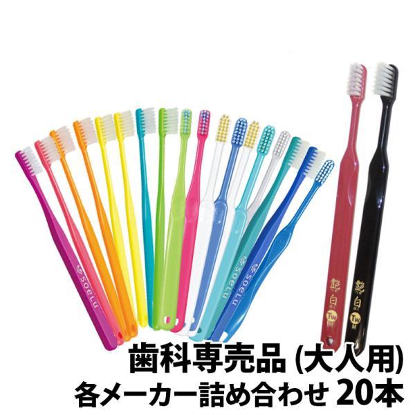 歯ブラシ 大人用 ×20本 福袋 MY歯ブラシ 歯科専売品 メール便送料無料の画像