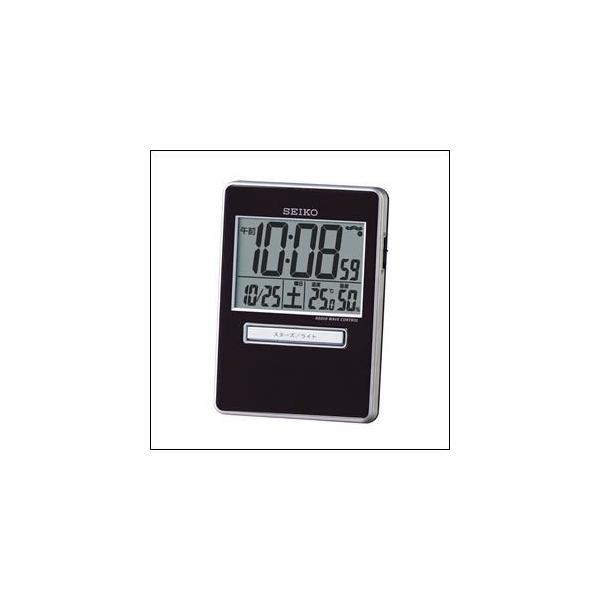 SEIKO セイコー クロック SQ699K 目覚まし時計 電波時計 トラベラ 温度計 湿度計 携帯
