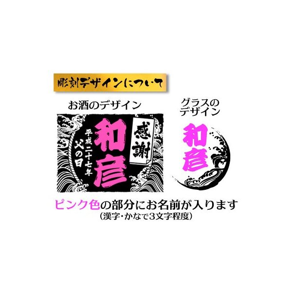 父の日 プレゼント 名入れ ロック専用 麦焼酎 麦ろっく 720ml & お父さんの名入れ彫刻ロックグラスセット|okurusake|02