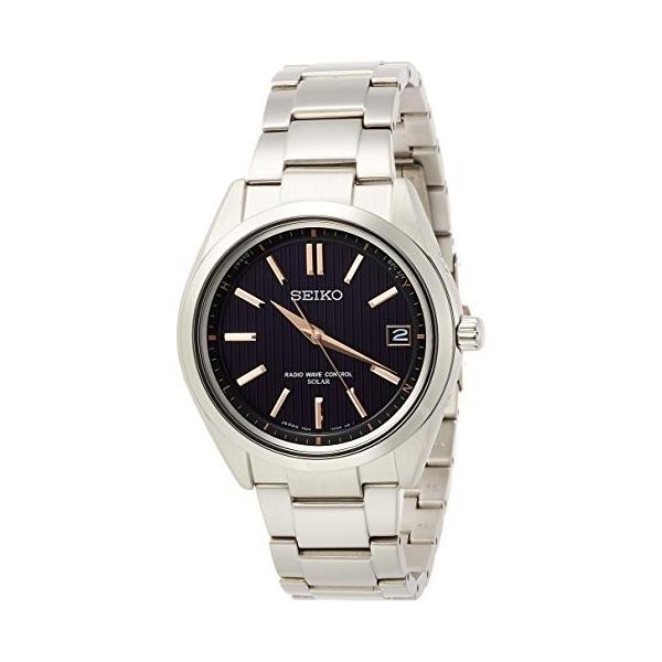 [ブライツ]BRIGHTZ 腕時計 BRIGHTZ ソーラー電波 チタンモデル サファイアガラス 黒文字盤 10気圧防水 SAGZ087 メンズ