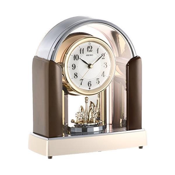 セイコー クロック 置き時計 スタンダード 電波時計 ツイン・パ 濃茶 マーブル 模様光沢仕上げ BY238B SEIKO