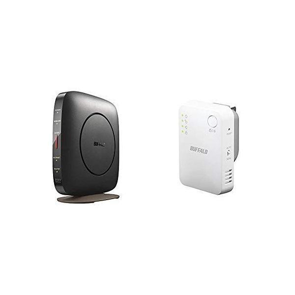 セット買い BUFFALOWiFi無線LANルーターWSR-A2533DHP3-BK11acac26001733+800Mb