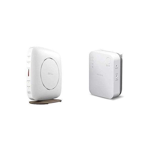 セット買い BUFFALOWiFi無線LANルーターWSR-A2533DHP3-WH11acac26001733+800Mb
