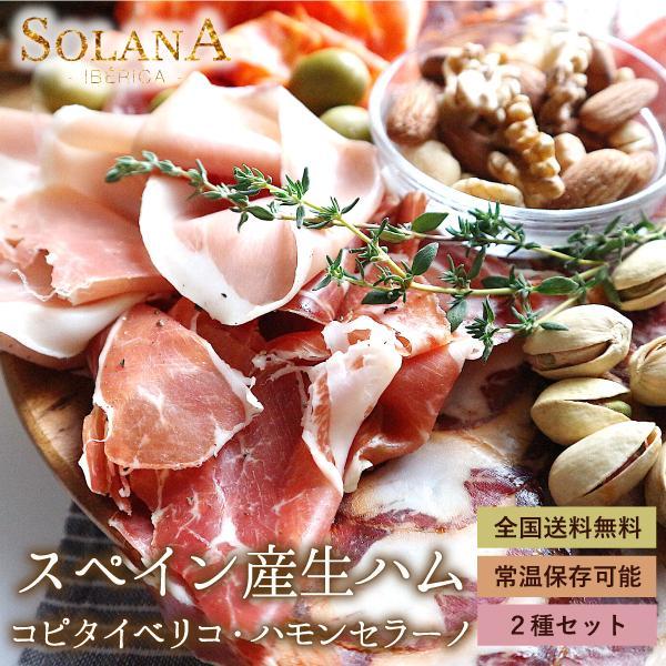 ポイント消化 送料無料 おつまみ 『スペイン産ハモンセラーノ&イベリコ豚大トロ生ハム 90g』お試し
