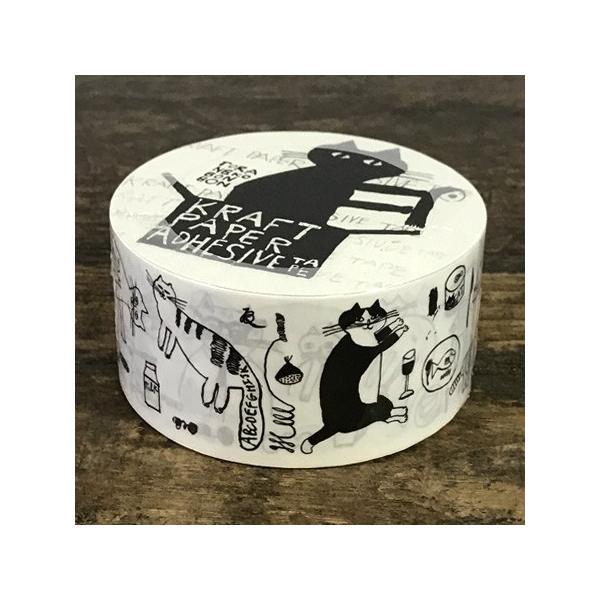 倉敷意匠計画室 トラネコボンボン クラフト粘着テープ クラフトテープ 柄 梱包テープ かわいい 猫グッズ プレゼント 女性 おしゃれ 文房具 ねこ 雑貨 可愛い