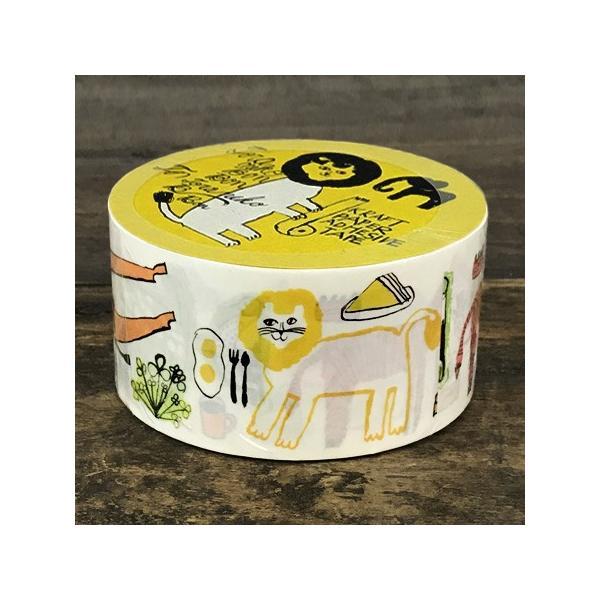 倉敷意匠計画室 トラネコボンボン クラフト粘着テープ (Africa) クラフトテープ かわいい おしゃれ 梱包テープ 柄 猫グッズ プレゼント 女性 ねこ 猫雑貨