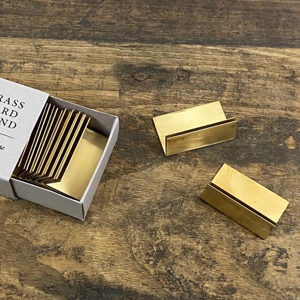 BRASS(ブラス) カードスタンド ワイドS 10個入り おしゃれ 真鍮 ゴールド アンティーク風 ショップカード カード立て POP立て ハンドメイド販売
