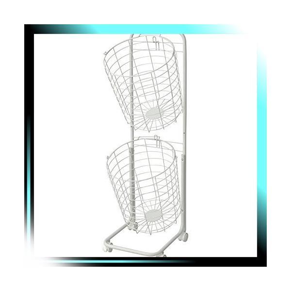 ホワイト ランドリーバスケット2段 ホワイト RLB-2C WH|oliver
