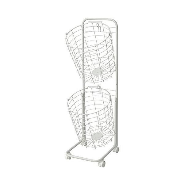 ホワイト ランドリーバスケット2段 ホワイト RLB-2C WH|oliver|02