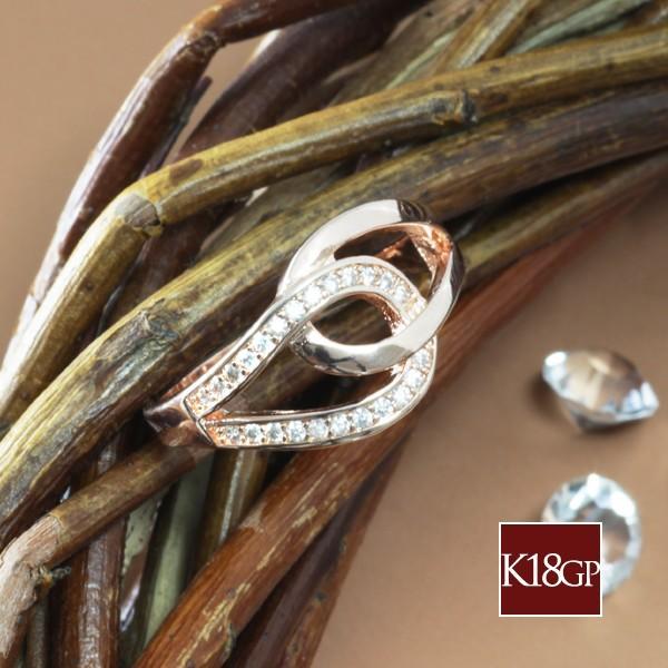 指輪 リング レディース 18金 18K ダイヤ ピンクゴールド シンプル / ティアドロップ / K18 刻印|olt-netshop|05