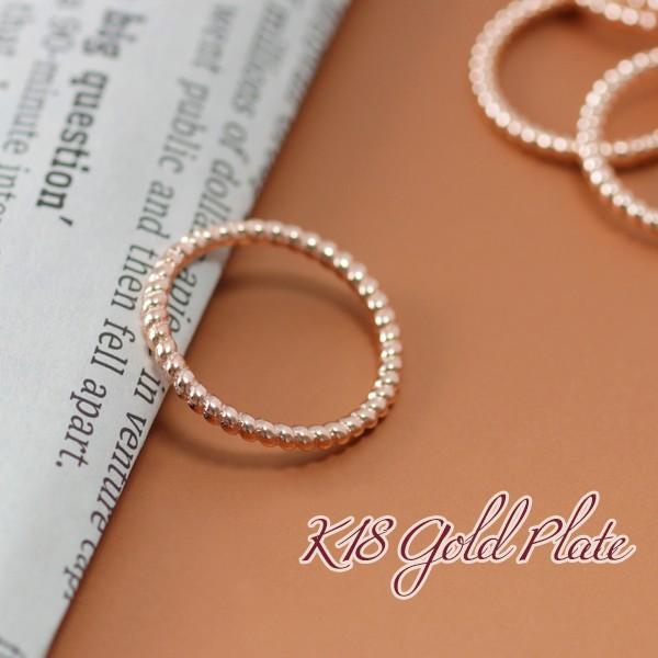 ピンキーリング 指輪 レディース 18金 18K ピンクゴールド K18 シンプル / ツイスト ロープ スパイラル|olt-netshop|05