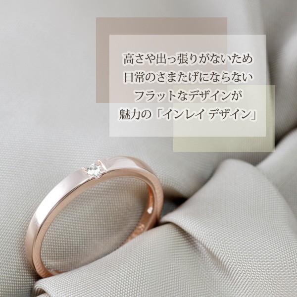 指輪 リング レディース 18金 18K 一粒 ダイヤ ピンクゴールド シルバー シンプル / K18 刻印|olt-netshop|04