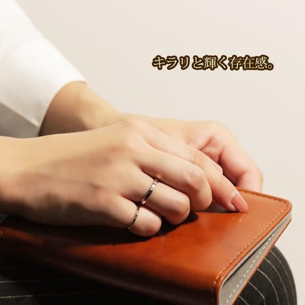 指輪 リング レディース 18金 18K 一粒 ダイヤ ピンクゴールド シルバー シンプル / K18 刻印|olt-netshop|09