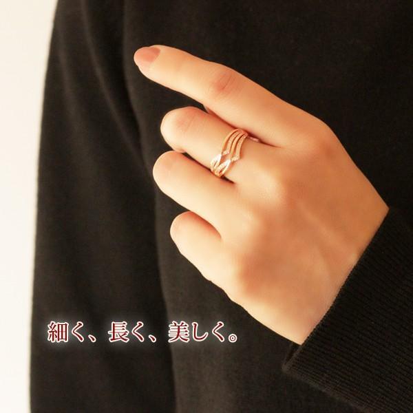 指輪 リング レディース 18金 18K ダイヤ ピンクゴールド / V字 / K18 刻印|olt-netshop|08
