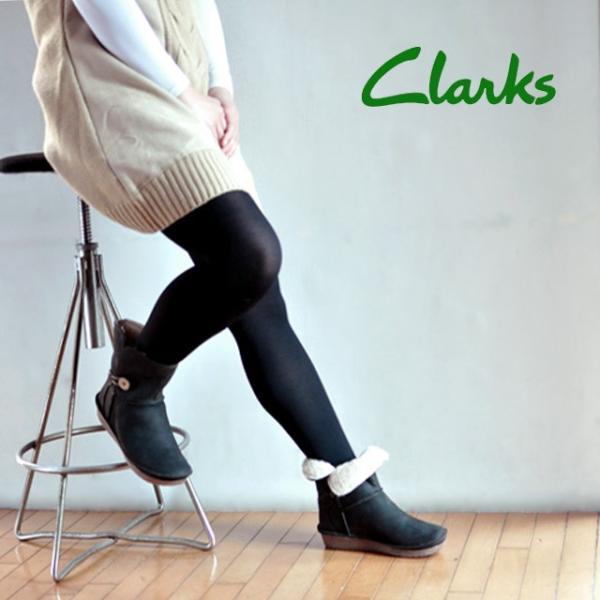 クラークス 735F BS  Clarks Lima Caprice アンクルブーツ ブラックスエード