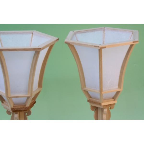 神道 白木雪洞燈台 十文字 1尺3寸 おまかせ工房|omakase-factory|02
