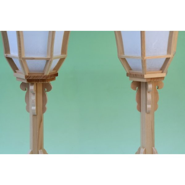 神道 白木雪洞燈台 十文字 1尺3寸 おまかせ工房|omakase-factory|03