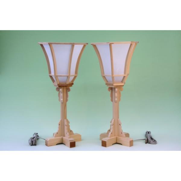 神道 白木雪洞燈台 十文字 1尺7寸 上品|omakase-factory|02
