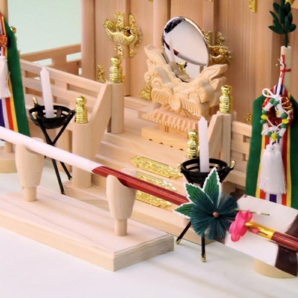 神具 神前破魔矢置き 桧製 幅18cm奥行き7cm高さ7cm おまかせ工房|omakase-factory|07