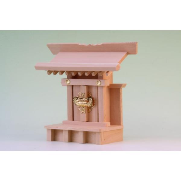 神棚 一社 小宮一社 尾州桧 上品 小型のコンパクト神棚 omakase-factory 03