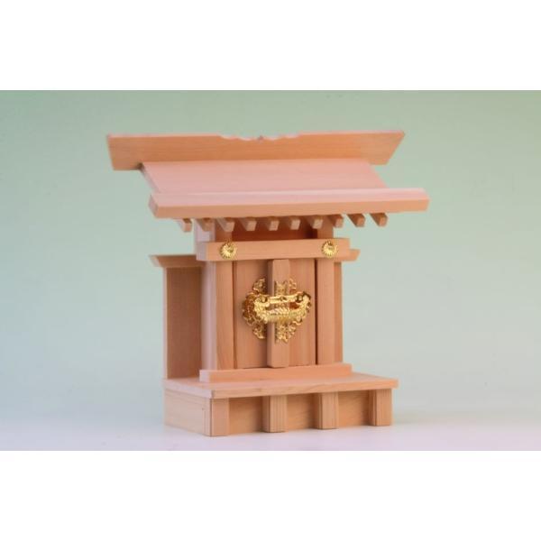 神棚 一社 小宮一社 尾州桧 上品 小型のコンパクト神棚 omakase-factory 04