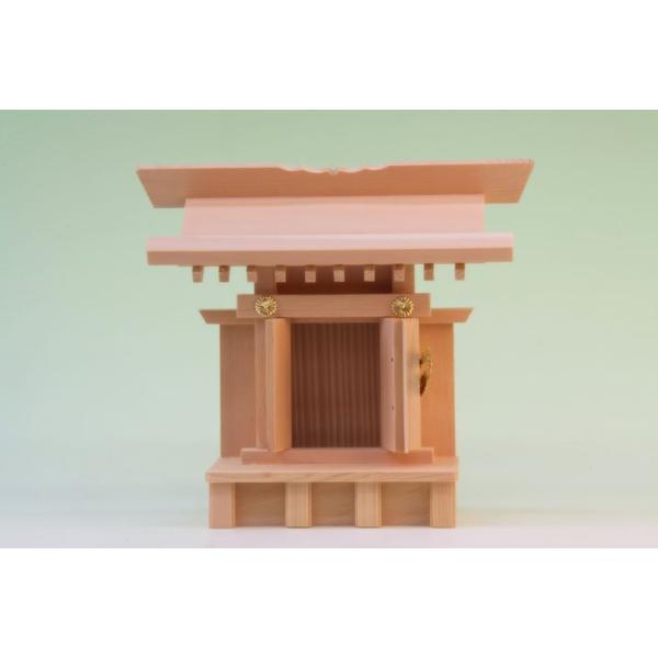 神棚 一社 小宮一社 尾州桧 上品 小型のコンパクト神棚 omakase-factory 05