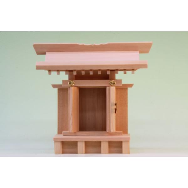 神棚 一社 中宮一社 尾州桧 上品 小型のコンパクト神棚 omakase-factory 03