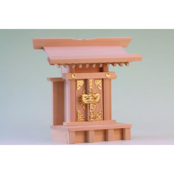 神棚 一社 中宮一社 尾州桧 上品 小型のコンパクト神棚 omakase-factory 04