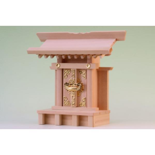 神棚 一社 中宮一社 尾州桧 上品 小型のコンパクト神棚 omakase-factory 05