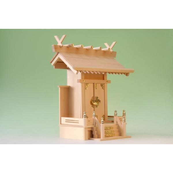 神棚 一社 大神明 一社 尾州桧 上品 小型のコンパクト神棚|omakase-factory|03