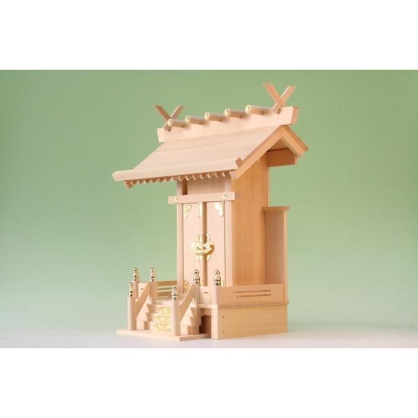 神棚 一社 大神明 一社 尾州桧 上品 小型のコンパクト神棚|omakase-factory|04