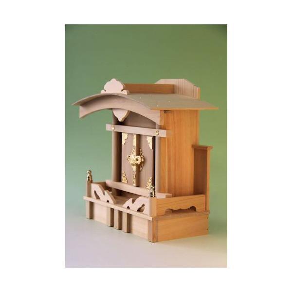 神棚 一社 大黒宮一社 尾州桧 上品 小型のコンパクト神棚|omakase-factory|05