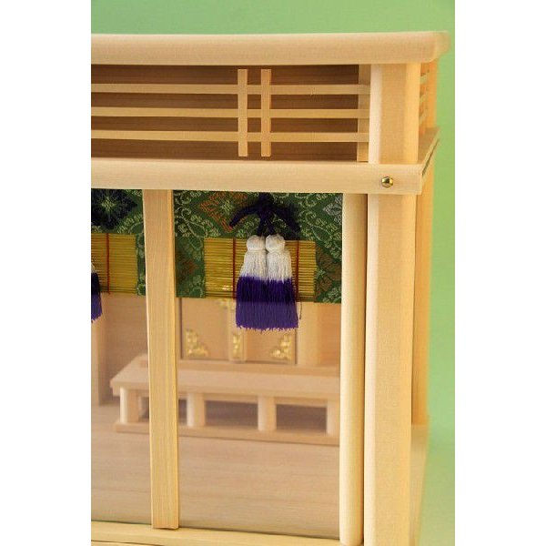 神棚 三社 ガラス 箱宮12号一社 御簾付き 壁掛け可能 ガラスケース入り ガラス宮 上品|omakase-factory|06