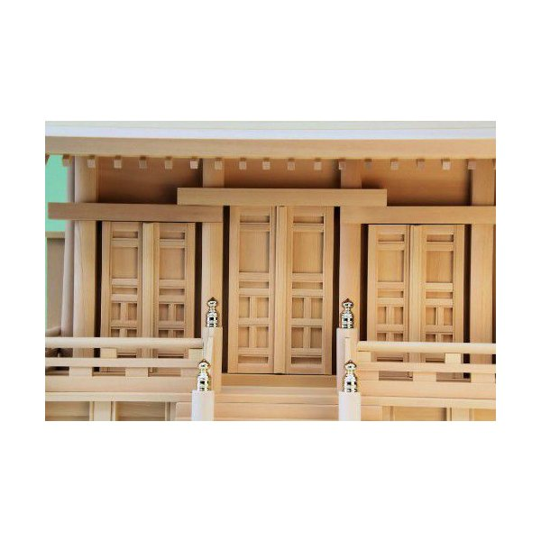 神棚 三社 通し屋根三社 富士 小型 尾州桧 上品 通し屋根三社|omakase-factory|04
