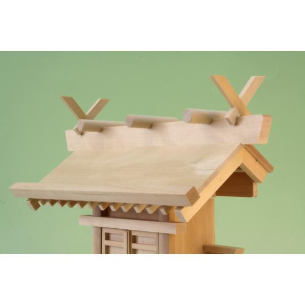 神棚 一社 通し屋根一社 神代 小型 尾州桧 通し屋根一社 おまかせ工房|omakase-factory|05