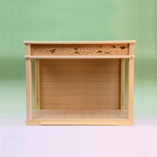 神棚 中型サイズ用 神棚ケース 壁掛け可能 神棚入れ ガラスケース 上品|omakase-factory|02