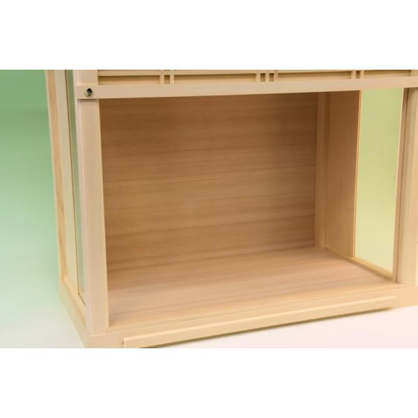 神棚 小型サイズ用 神棚ケース 壁掛け可能 神棚入れ ガラスケース 上品|omakase-factory|05
